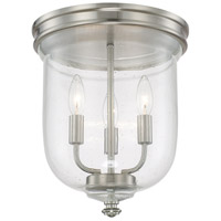 Capital Lighting Signature 3 Light Flush Mount in Brushed Nickel 214031BN