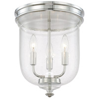 Capital Lighting Signature 3 Light Flush Mount in Polished Nickel 214031PN