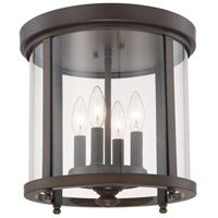 Capital Lighting Signature 4 Light Flush Mount in Burnished Bronze 214141BB