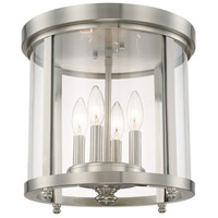 Signature 4 Light 13 inch Brushed Nickel Flush Mount Ceiling Light