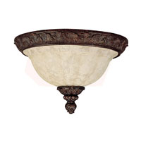 Capital Lighting Signature 2 Light Flush Mount in Gilded Bronze with Rust Scavo Glass 2142GB