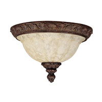 Capital Lighting Monarch 3 Light Flush Mount in Gilded Bronze with Rust Scavo Glass 2143GB photo thumbnail