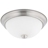 HomePlace 2 Light 11 inch Brushed Nickel Flush Mount Ceiling Light