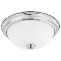 HomePlace 2 Light 11 inch Chrome Flush Mount Ceiling Light