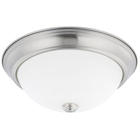 HomePlace 2 Light 13 inch Brushed Nickel Flush Mount Ceiling Light