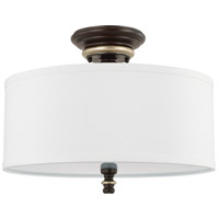 Asher 3 Light 15 inch Champagne Bronze Semi-Flush Mount Ceiling Light