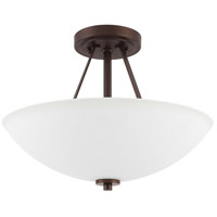 HomePlace 2 Light 15 inch Bronze Semi-Flush Mount Ceiling Light