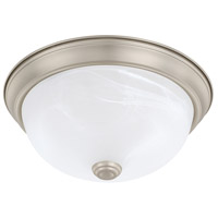 HomePlace 2 Light 11 inch Matte Nickel Flush Mount Ceiling Light