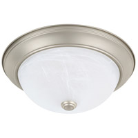 HomePlace 2 Light 13 inch Matte Nickel Flush Mount Ceiling Light
