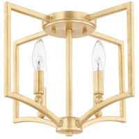 Regan 4 Light 15 inch Capital Gold Flush Mount Ceiling Light