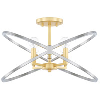 Fire and Ice 4 Light 18 inch Fire and Ice Semi-Flush Mount Ceiling Light