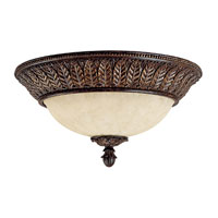 Capital Lighting Sheffield 3 Light Flush Mount in Chesterfield Brown with Rust Scavo Glass 2245CB photo thumbnail