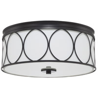 Rylann 3 Light 15 inch Matte Black Flush Mount Ceiling Light