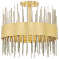 Capital Lighting 225441FI Lena 4 Light 15 inch Fire and Ice Semi-Flush Mount Ceiling Light
