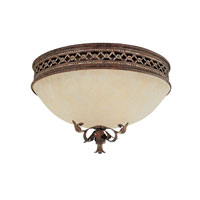 Capital Lighting Grandview 2 Light Flush Mount in Dark Spice with Rust Scavo Glass 2263DS photo thumbnail