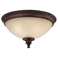 Capital Lighting Hill House 2 Light Flush Mount in Burnished Bronze with Mist Scavo Glass 2273BB