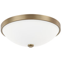 Signature 2 Light 13 inch Aged Brass Flush Mount Ceiling Light