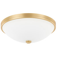 Signature 2 Light 13 inch Capital Gold Flush Mount Ceiling Light