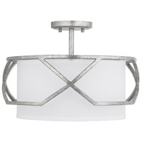 Capital Lighting 232431AS Bryce 3 Light 16 inch Antique Silver Pendant Ceiling Light Semi-Flush Convertible