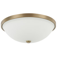 Signature 3 Light 15 inch Aged Brass Flush Mount Ceiling Light