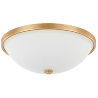 Signature 3 Light 15 inch Capital Gold Flush Mount Ceiling Light