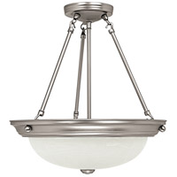 Capital Lighting Signature 3 Light Pendant in Matte Nickel with Faux White Alabaster Glass 2718MN