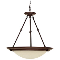 Signature 3 Light 20 inch Burnished Bronze Pendant Ceiling Light in Incandescent, Mist Scavo