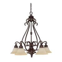 Capital Lighting Chatham 5 Light Chandelier in Weather Brown with Mist Scavo Glass 3015WB-267