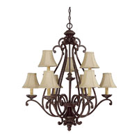 Capital Lighting Chatham 9 Light Chandelier in Weather Brown 3018WB-413