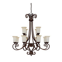 Capital Lighting Cumberland 12 Light Chandelier in Burnished Bronze with Mist Scavo Glass 3022BB-251 photo thumbnail