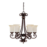 Capital Lighting Cumberland 6 Light Chandelier in Burnished Bronze with Mist Scavo Glass 3026BB-251