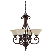 Capital Lighting Chandler 4 Light Chandelier in Burnished Bronze with Mist Scavo Glass 3074BB-292