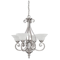 Chandler 4 Light 25 inch Matte Nickel Chandelier Ceiling Light in White Faux Alabaster