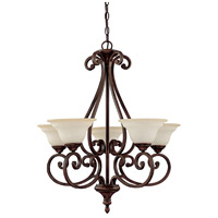Capital Lighting Chandler 5 Light Chandelier in Burnished Bronze with Mist Scavo Glass 3075BB-292