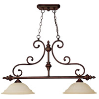 Capital Lighting Chandler 2 Light Island Light in Burnished Bronze with Mist Scavo Glass 3077BB