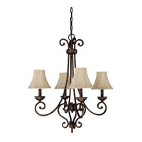 Capital Lighting Cumberland 4 Light Chandelier in Burnished Bronze 3084BB-413 photo thumbnail