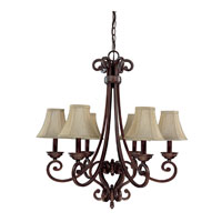 Capital Lighting Cumberland 6 Light Chandelier in Burnished Bronze 3086BB-413 photo thumbnail