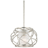 Riviera 1 Light 12 inch Antique Silver Pendant Ceiling Light