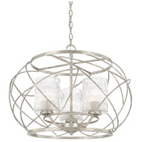 Capital Lighting 310631AS-301 Riviera 3 Light 24 inch Antique Silver Pendant Ceiling Light