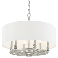 Capital Lighting 310961AS-651 Corrigan 6 Light 24 inch Antique Silver Pendant Ceiling Light