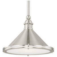 Langley 1 Light 13 inch Brushed Nickel Pendant Ceiling Light
