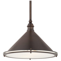 Langley 2 Light 18 inch Burnished Bronze Pendant Ceiling Light