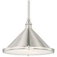 Capital Lighting 312221BN Langley 2 Light 18 inch Brushed Nickel Pendant Ceiling Light