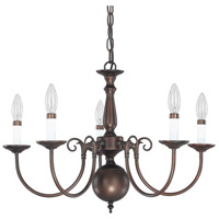 Signature 5 Light 24 inch Burnished Bronze Chandelier Ceiling Light
