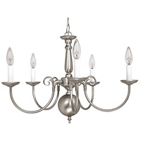 Signature 5 Light 24 inch Matte Nickel Chandelier Ceiling Light