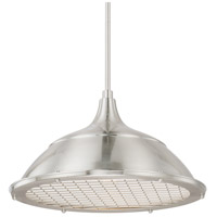 Signature 1 Light 18 inch Brushed Nickel Pendant Ceiling Light