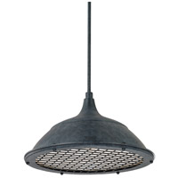 Signature 1 Light 18 inch Weathered Zinc Pendant Ceiling Light