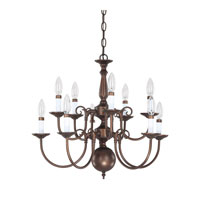Capital Lighting Signature 10 Light Chandelier in Burnished Bronze 3130BB photo thumbnail