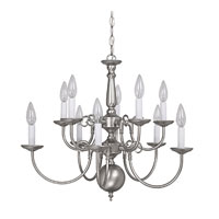 Capital Lighting Signature 10 Light Chandelier in Matte Nickel 3130MN
