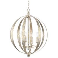 Capital Lighting 313341SG Charleston 4 Light 23 inch Silver and Gold Leaf Pendant Ceiling Light